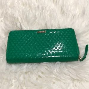 Kate Spade Cobble Hill Green Patent Leather Wallet